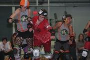 The Roller Derby girls are back at it Saturday at Selkirk College. 